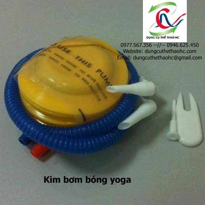 Bơm bóng tặng kèm khi mua bóng tập yoga gai 75cm
