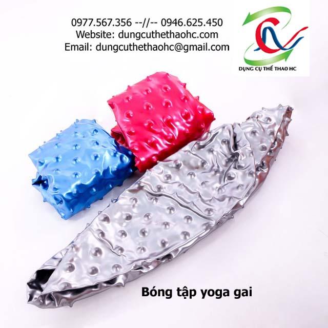 Bóng tập yoga gai khi chưa bơm