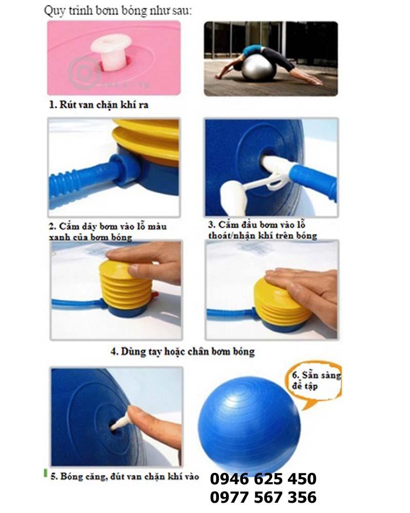 Cách bơm bóng yoga