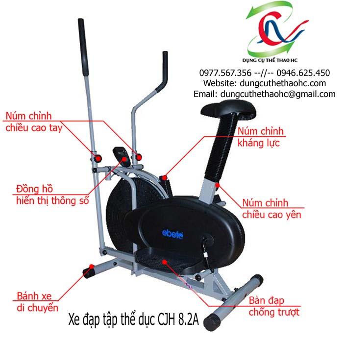 xe đạp tập thể dục CJH 8.2A