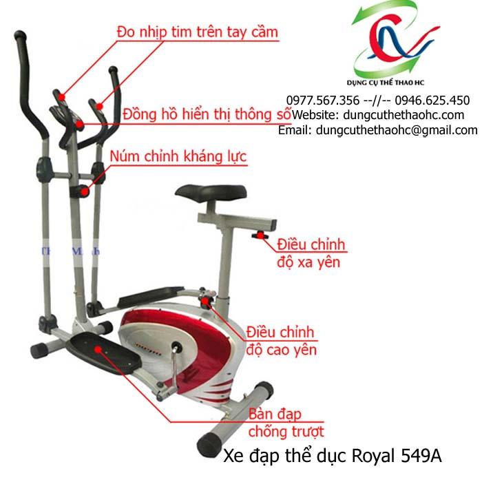 Xe đạp thể dục Royal 549A