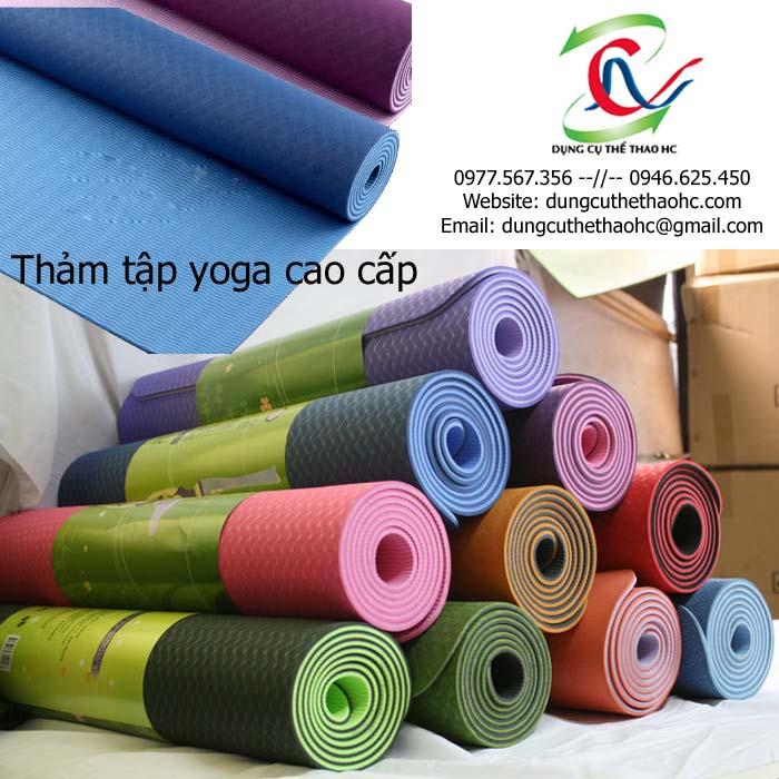 Thảm tập yoga cao cấp có nhiều màu sắc khác nhau