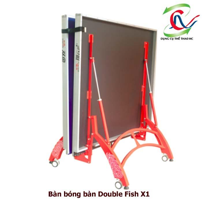 bàn bóng bàn Double Fish X1 khi gập gọn