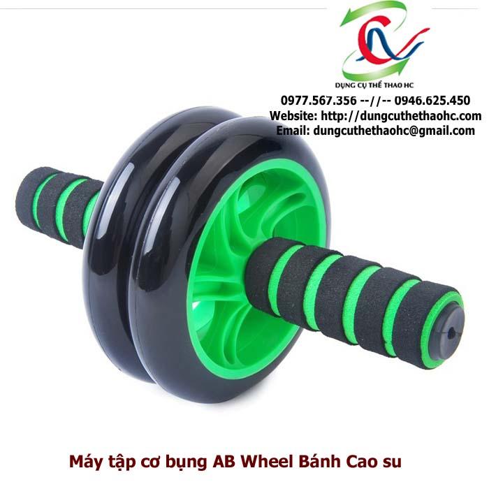 Máy tập bụng AB Wheel bánh Cao Su
