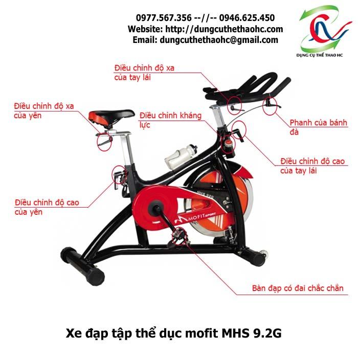xe đạp tập thể dục mofit MHS 9.2G giá rẻ