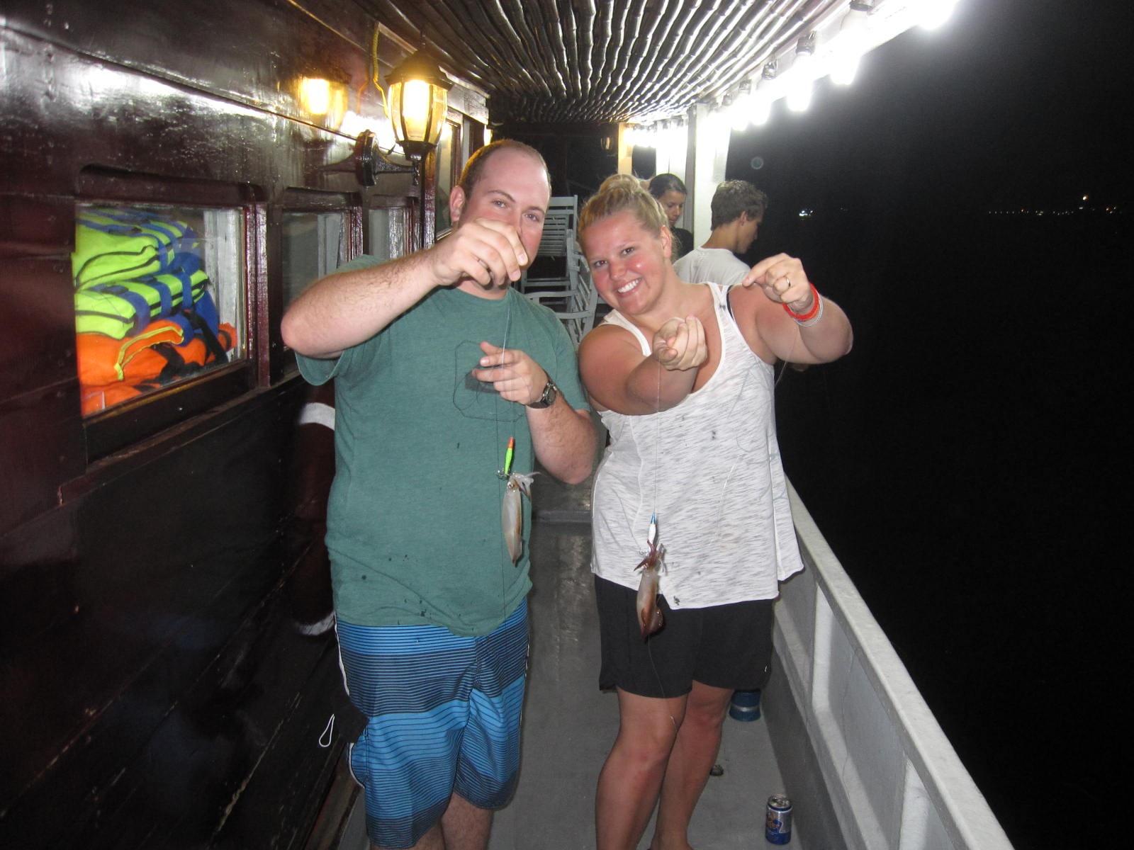 Câu mực đêm tại biển Phú Quốc