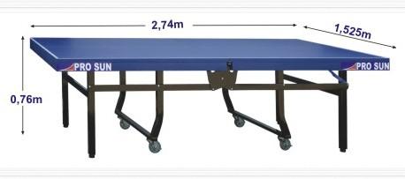 Kích thước chuẩn của bàn bóng bàn