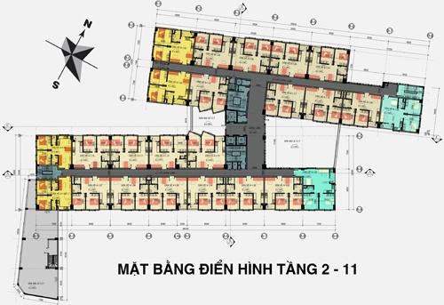 Mặt bằng căn hộ 26 Nguyễn Thượng Hiền