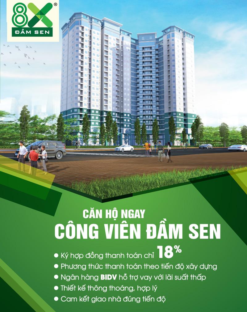 Căn hộ 8x Đầm Sen - Tân Phú, Tp.HCM