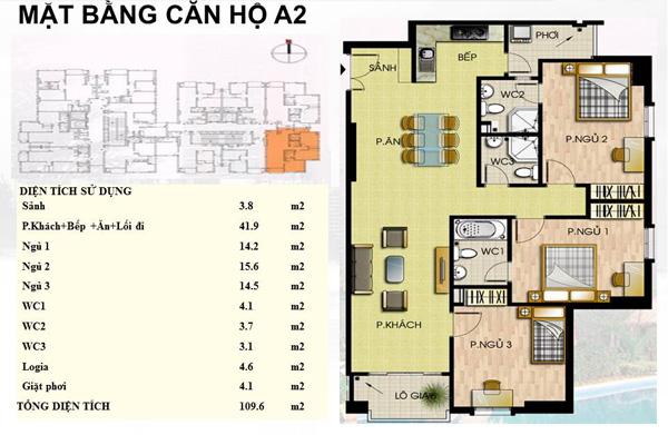 Mẫu căn hộ  A2 Trường Chinh