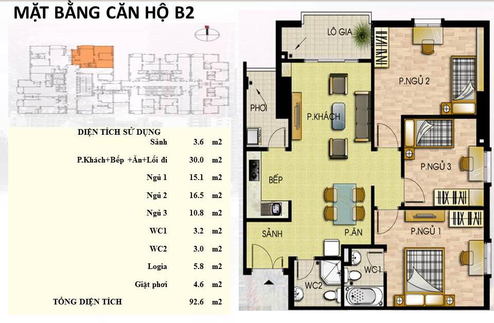 Mẫu căn hộ B2 Trường Chinh