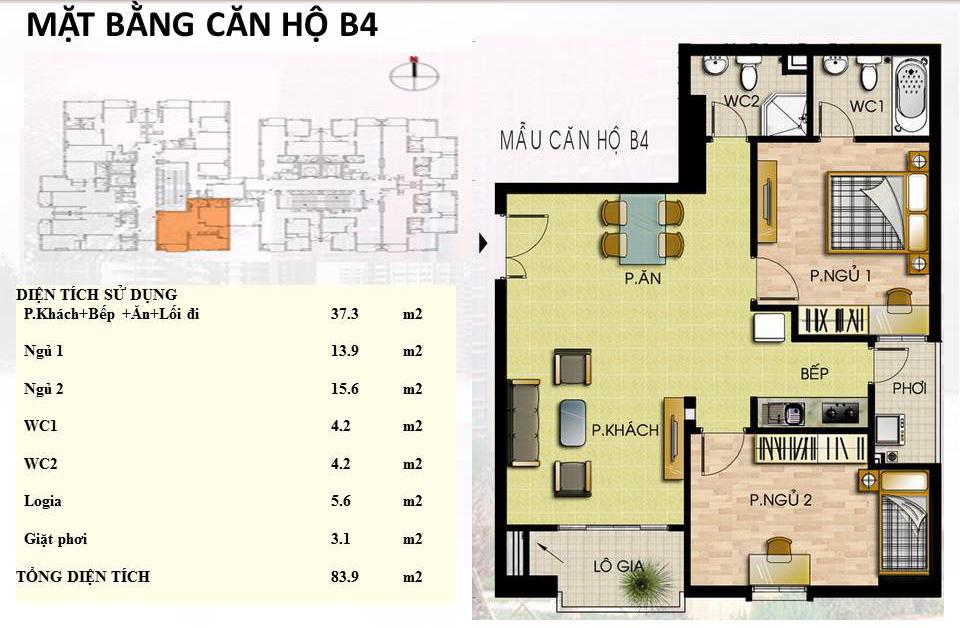 Mẫu căn hộ B4 Trường Chinh