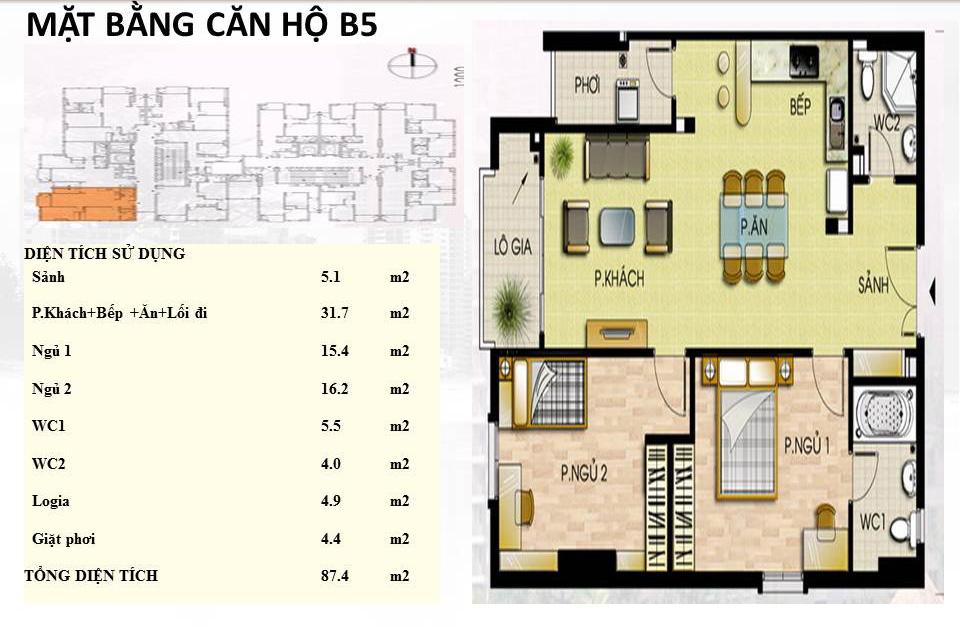 Mẫu căn hộ B5 Trường Chinh