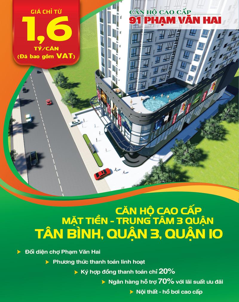 Căn hộ cao cấp 91 Phạm Văn Hai