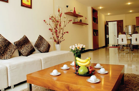 phòng khách giai việt residence