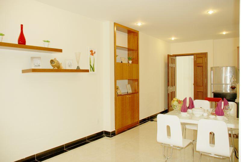 Khu vực bàn ăn căn hộ mẫu Giai Việt Residence