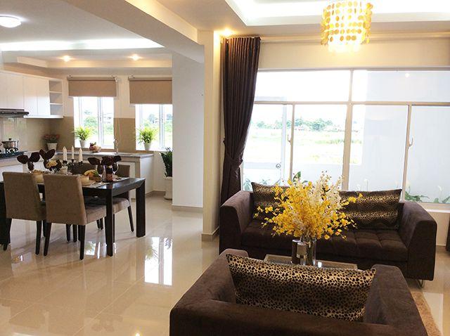 Mẫu phòng khách căn hộ 12 View