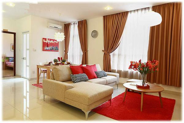 Phòng khách căn hộ mẫu florita