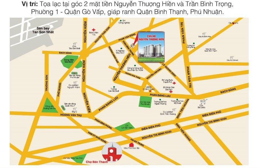 Vị trí căn hộ 26 Nguyễn Thượng Hiền