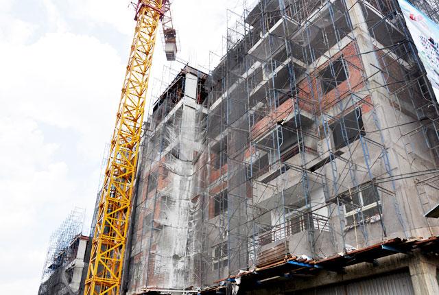 Hình ảnh thi công căn hộ ngày 11-08-2014