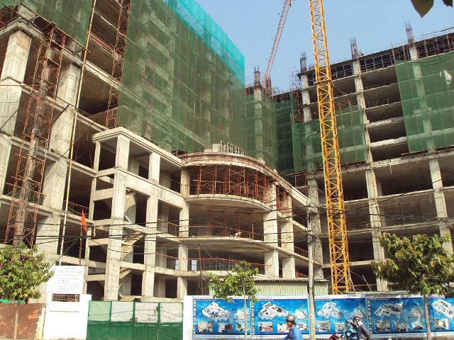 Hình ảnh thi công thực tế căn hộ Bàu Sen
