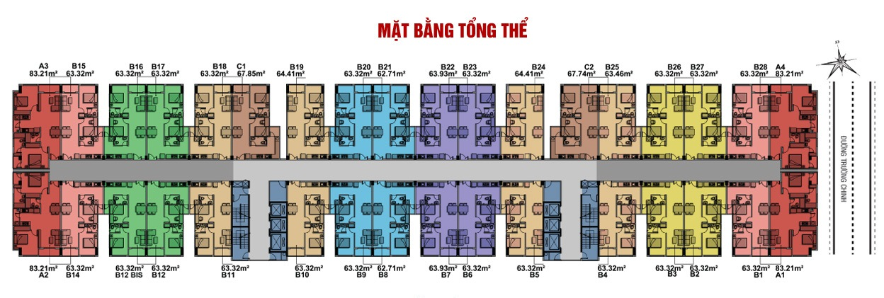 Mặt bằng tổng thể căn hộ 8x plus