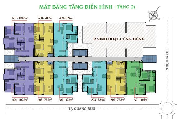 Mặt bằng tầng 2 căn hộ Giai Việt