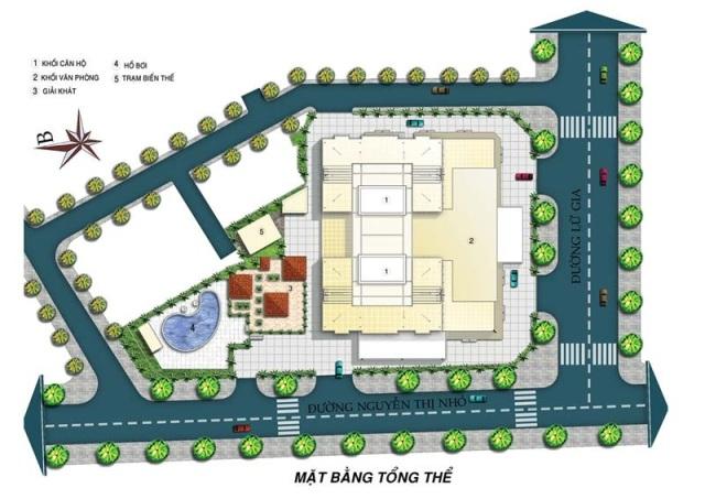 Mặt bằng tầng tổng thể căn hộ Lữ Gia
