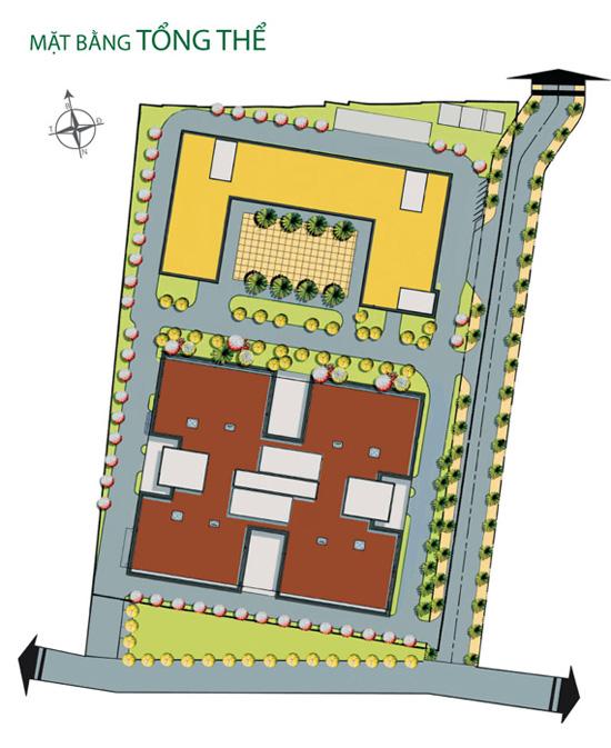 Mặt bằng tổng thể Tân Hương Tower