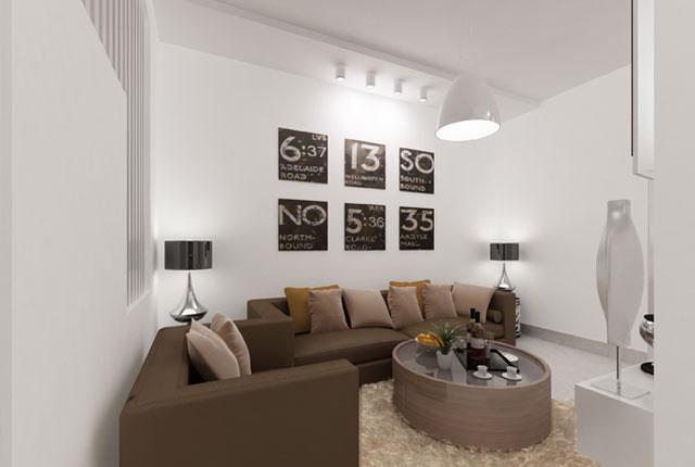 Phòng khách căn hộ mẫu 8x Thái An