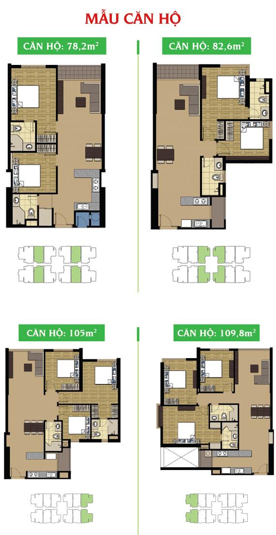 Mặt bằng tầng 3 căn hộ Giai Việt