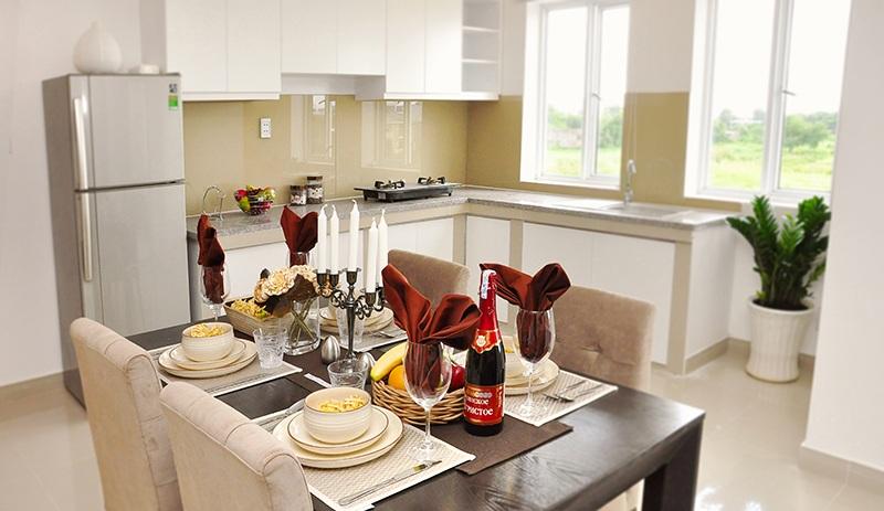 Mẫu phòng bếp căn hộ 12 View