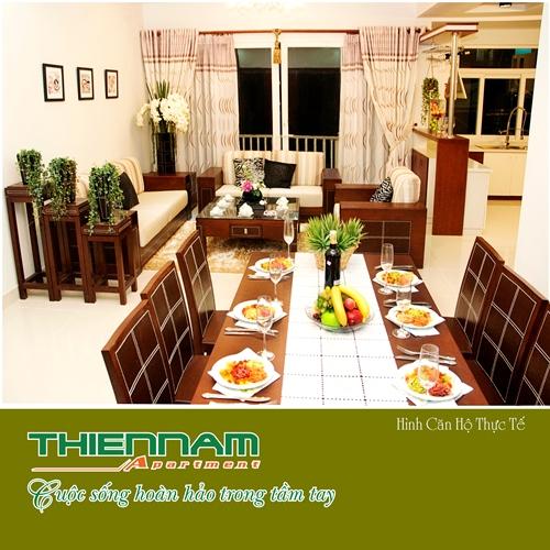 Phòng ăn căn hộ Thiên Nam Aparment