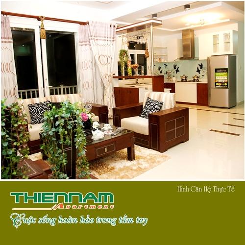 Phòng khách căn hộ Thiên Nam Aparment