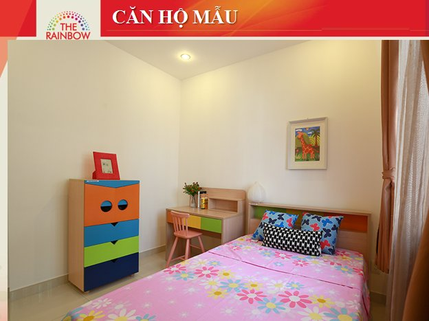 Phòng ngủ nhỏ 8X Rainbow