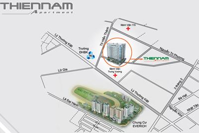 Vị trí căn hộ Thiên Nam Apartment