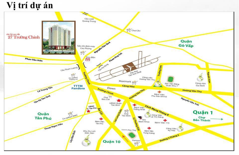 vị trí căn hộ 27 Trường Chinh