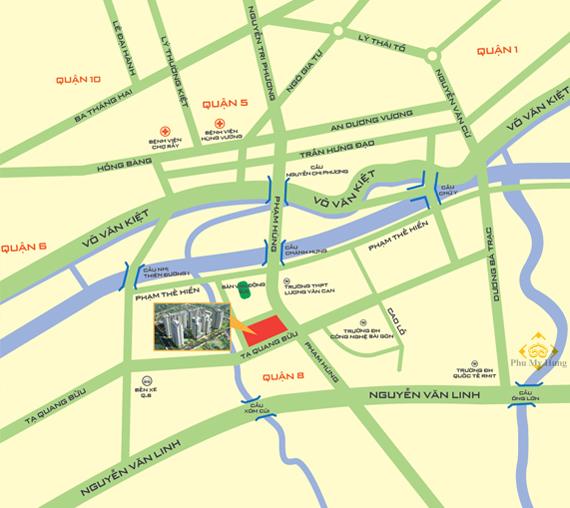 Vị trí căn hộ Giai Việt quận 8