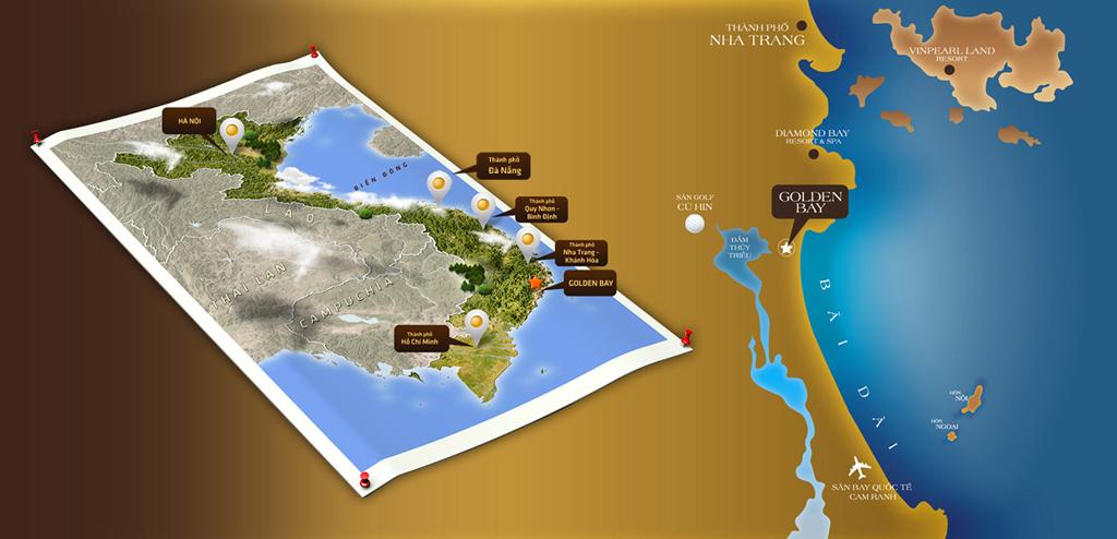 Vị trí Golden Bay - Cam Ranh