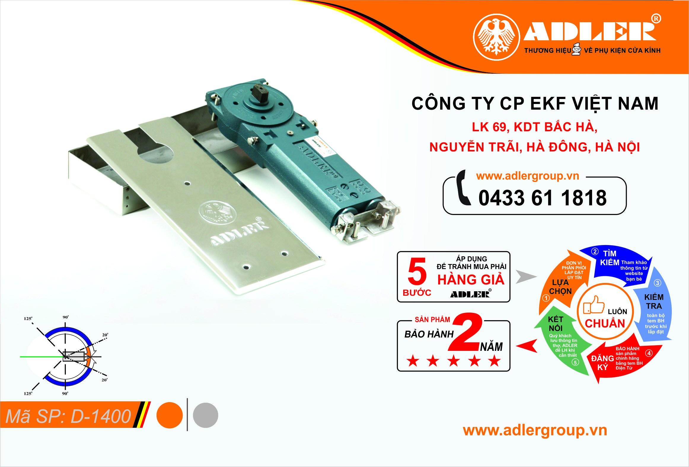 Các thành phần cấu tạo sản phẩm D1400: nắp BLS , hộp BLS , thân BLS