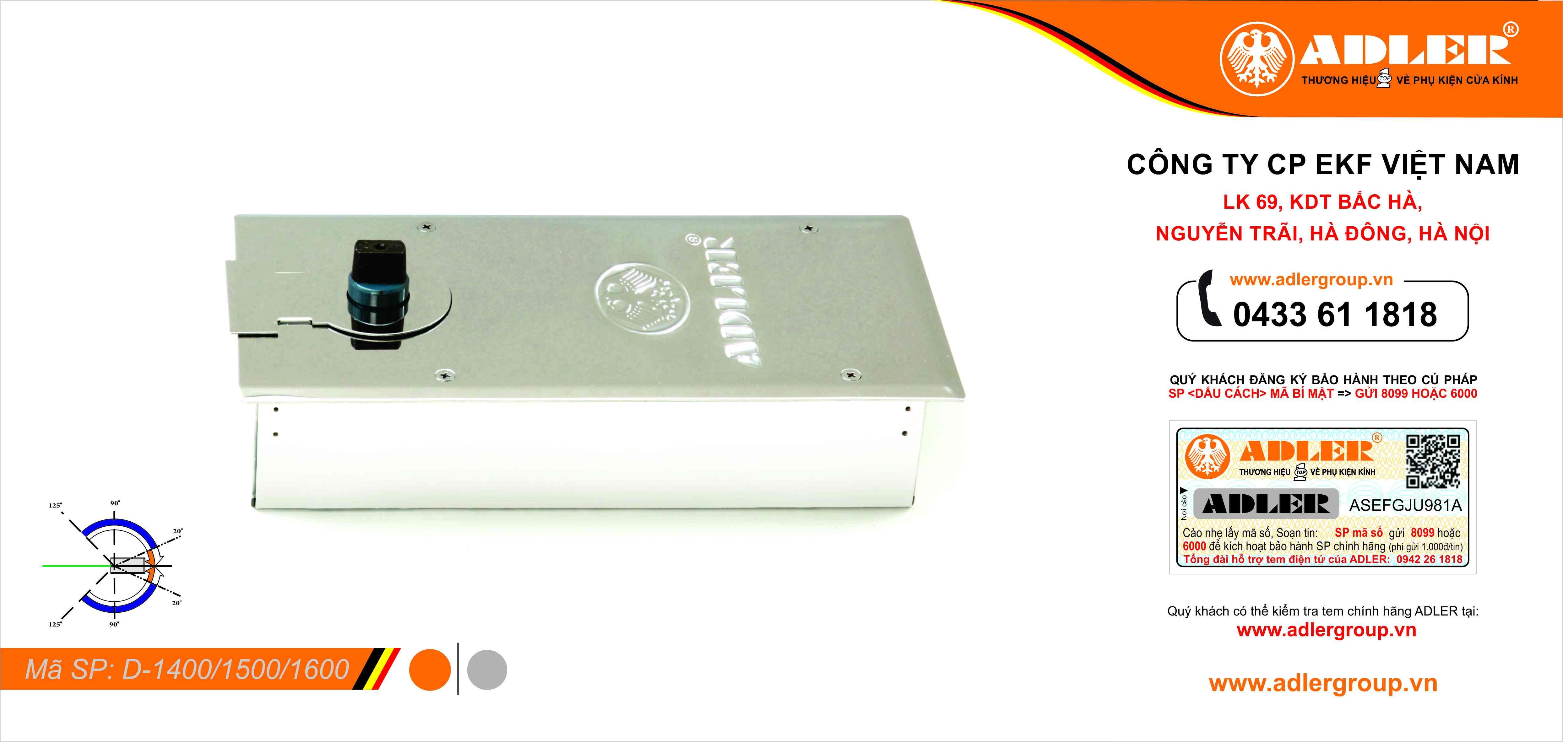 Sản phẩm Seri D : D1400 - D1500 - D1600