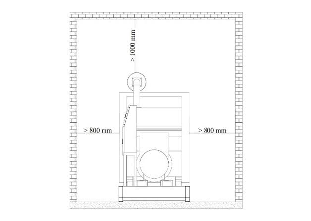 Phòng máy phát điện tiêu chuẩn