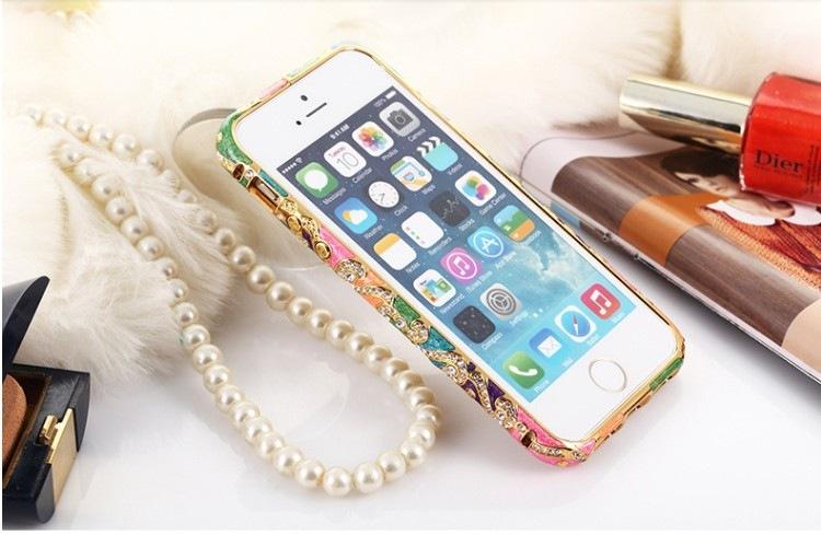 ốp viền đính đá iphone 5, 5s