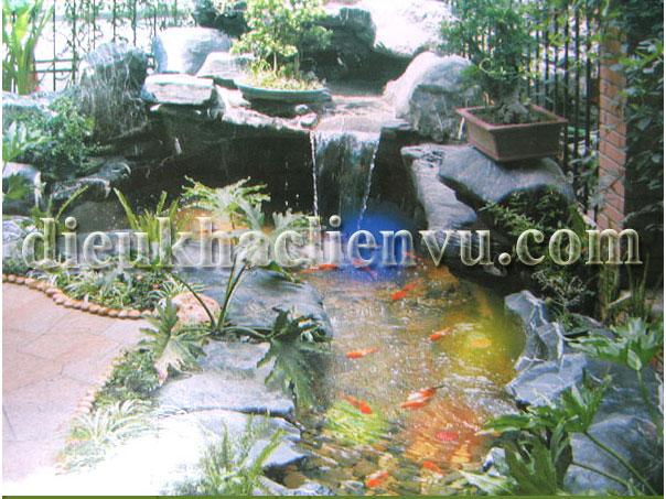 Tiểu cảnh nước trong sân vườn