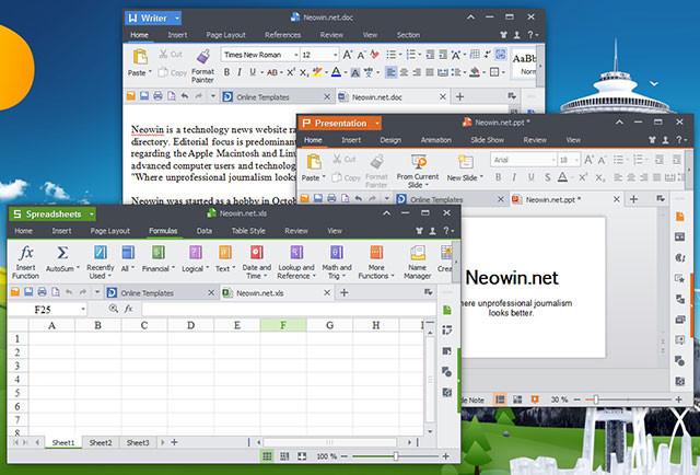 Ứng dụng văn phòngcủa Ainol Novo 7 Numy AX1 3G