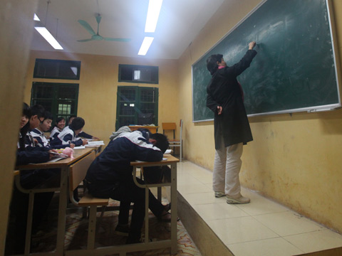 Thói quen ngủ gật của học sinh