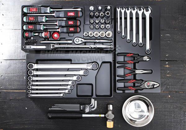 Bộ dụng cụ với 3 khay nhựa, bộ dụng cụ xuất xứ G7, bộ dụng cụ với hộp EKR-103