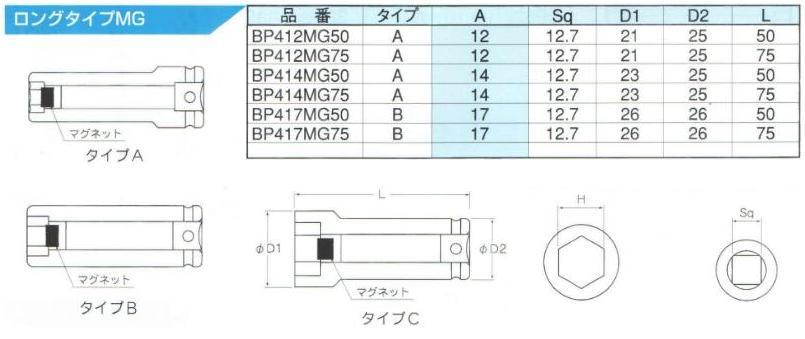 Đầu khẩu 1/2 inch có nam châm, đầu tuýp có gắn nam châm từ tính, đầu khẩu loại 1/2 inch có nam châm,