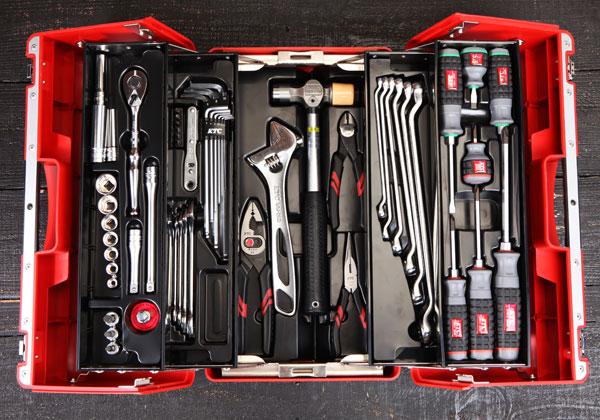 Bộ dụng cụ sửa chữa KTC với 53 chi tiết, bộ dụng cụ với hộp nhựa SK330P-M