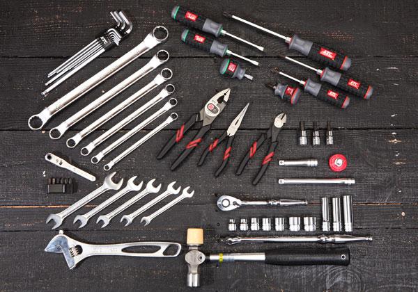 Bộ dụng cụ 55 chi tiết, bộ dụng cụ sửa chữa 55 chi tiết, bộ dụng cụ KTC SK3550W